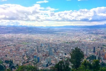 view of Bogota, Colombia from Montserrate