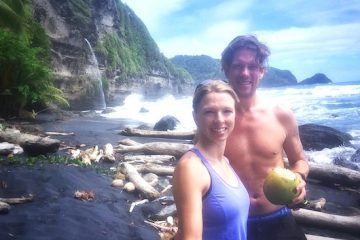 hikes in dominica, hiking, beach, waterfall