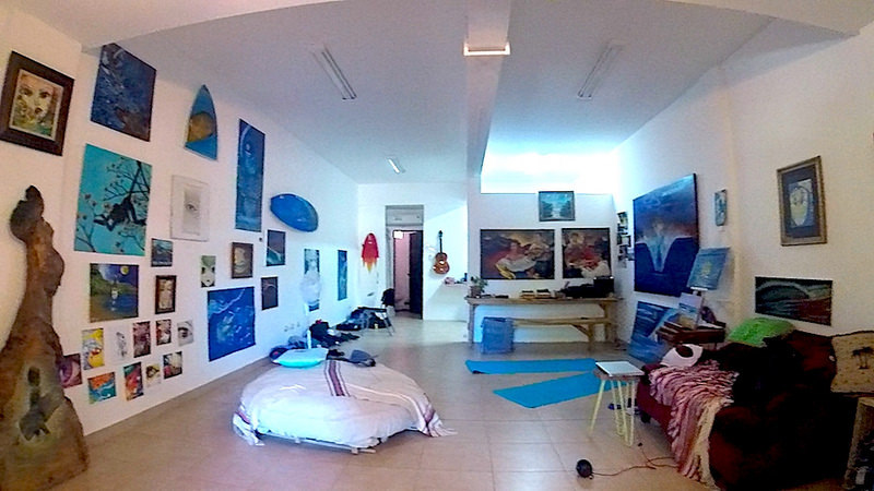 Funky living area of an AirBnB in Costa Rica.