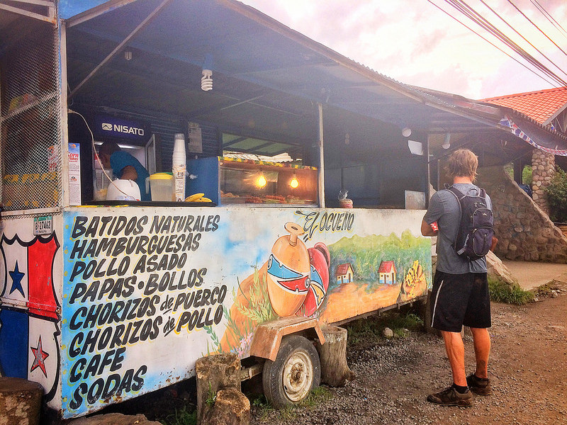 Decorated food trucks in El Valle mountain town, Panama.