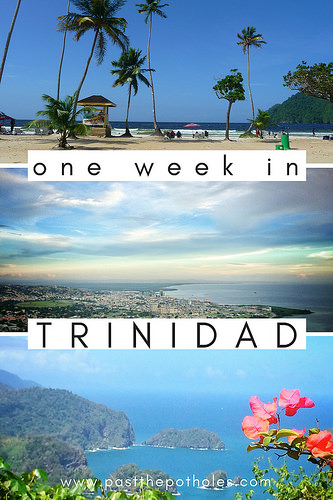 various panoramic views of Trinidad with text: One week in Trinidad