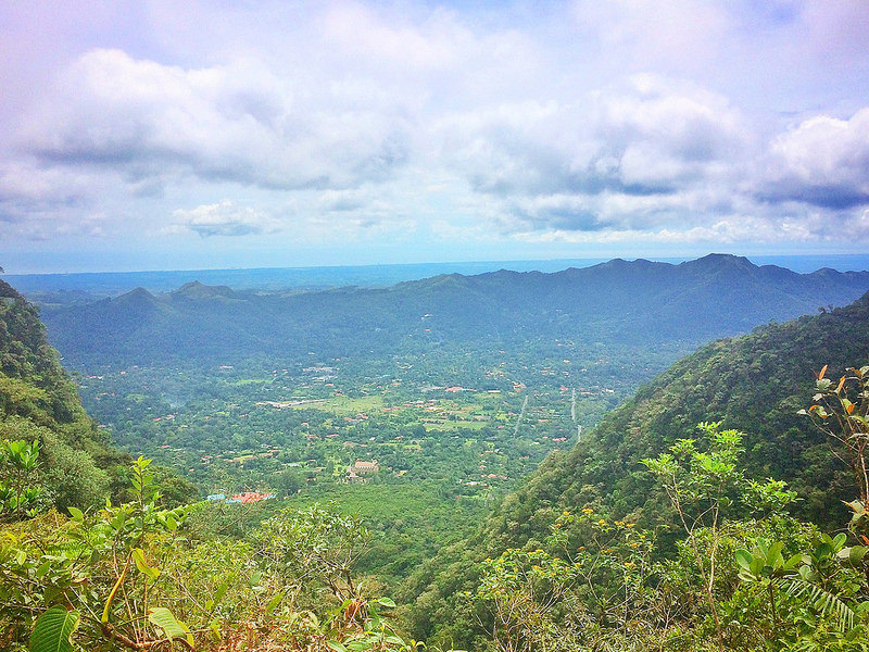 Incredible forest and mountain views from Cerro Gaital hike in El Valle de Anton, Panama.