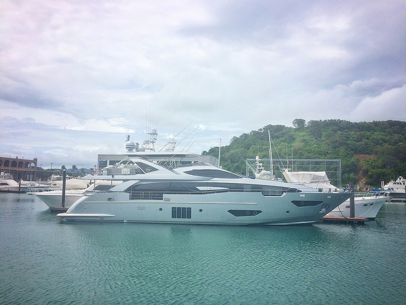 Expensive yacht in marina in Panama City, Panama