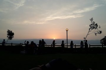 Sunset on Miraflores Malecon