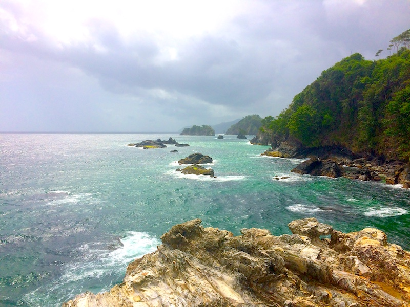 View of sea from Turtle Rock, Paria Bay hike, Trinidad