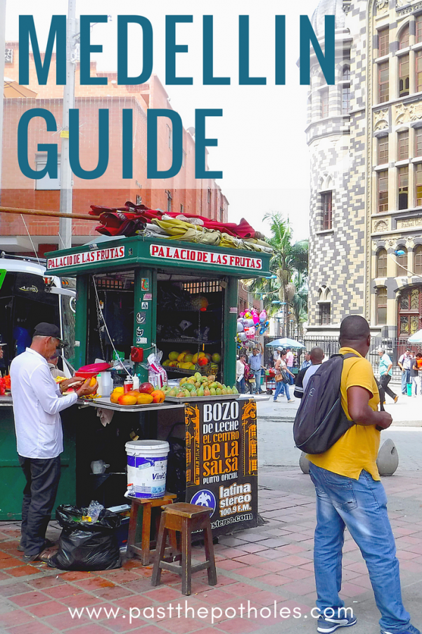 Fruit cart in Medellin - explore downtown during 3 days in Medellin guide.