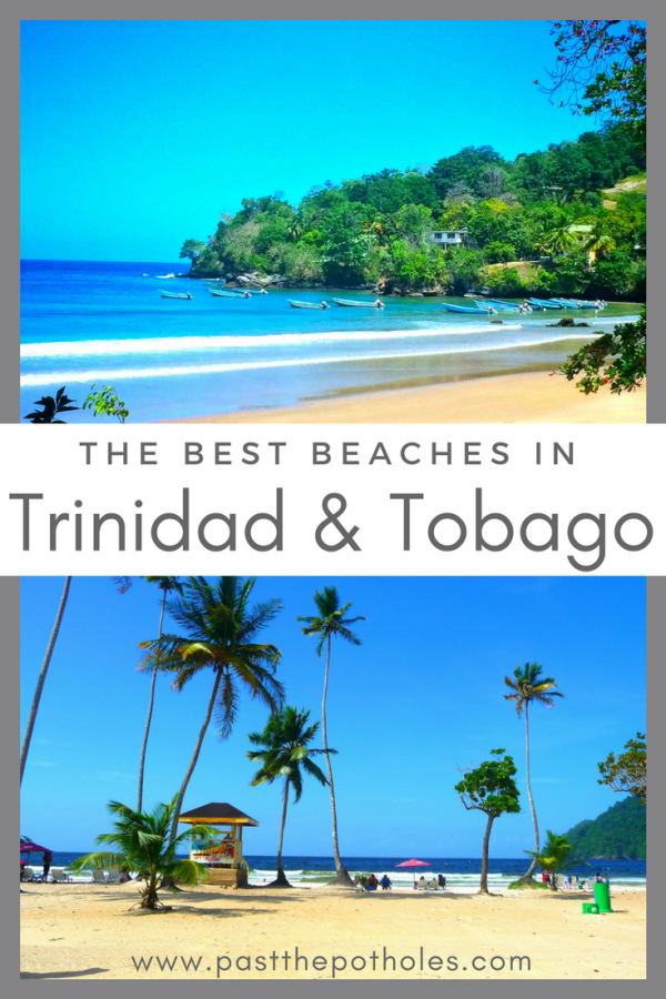 Beautiful Caribbean beach images with text: The Best Beaches in Trinidad and Tobago