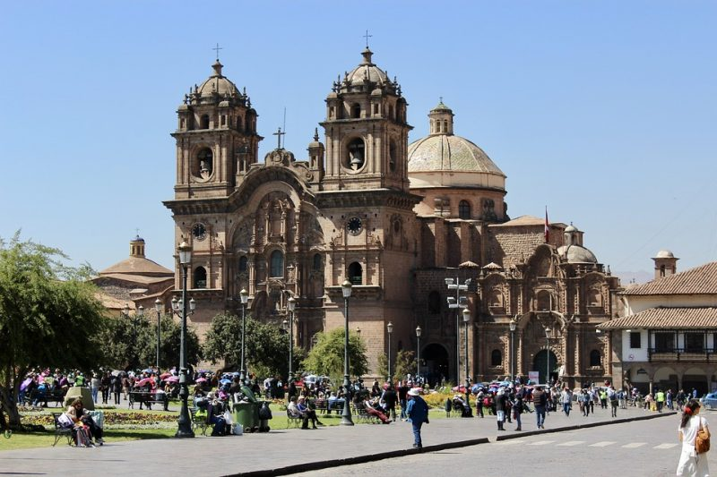 Church in main plaza of Cusco, Peru