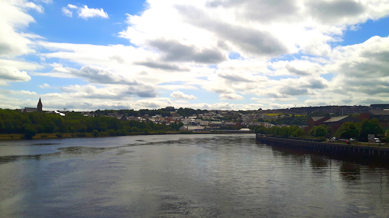 River in town of Derry-Londonderry, Northern Ireland.
