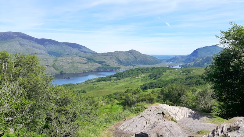 View across Killarney National Park from Lady View, Ireland.