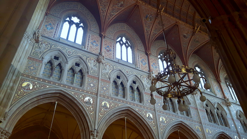 Elaborately decorated interior of St Patrick's Cathedral in Armagh, Northern Ireland.