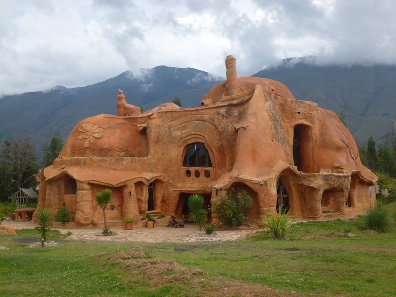 An intricate domed house made from terracotta in Villa de Leyva, Colombia.