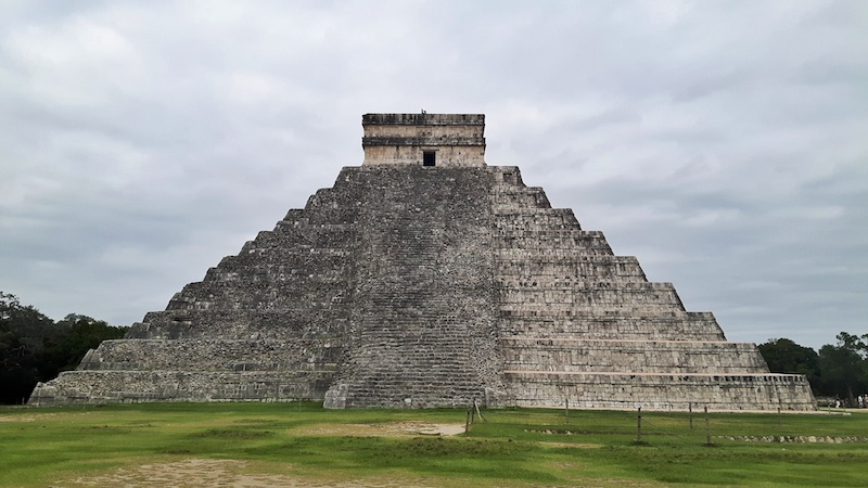 The great pyramid with no people - arriving early is one of the best tips for visiting Chichen Itza, Mexico.