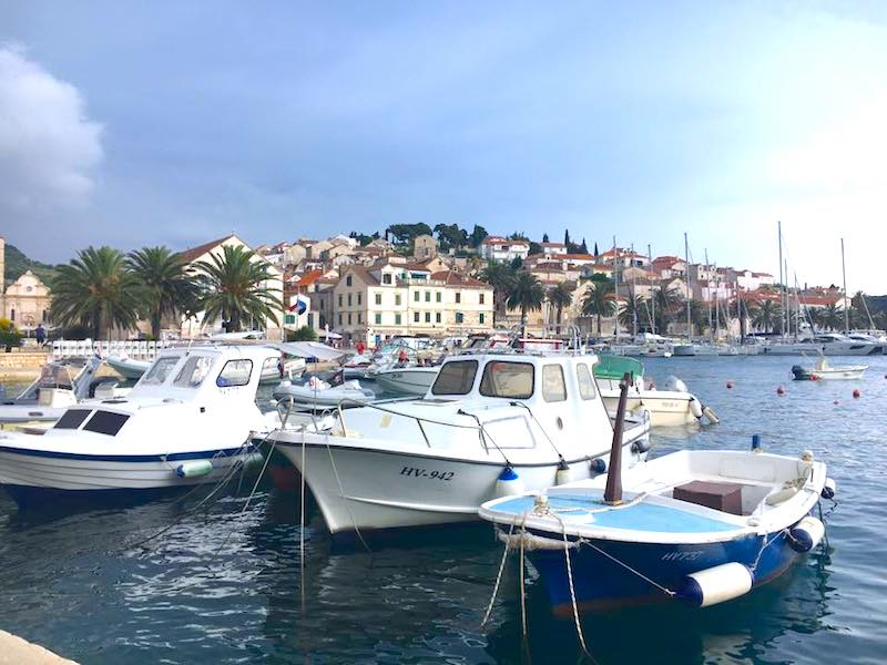 Boats in Split Harbour, Croatia.