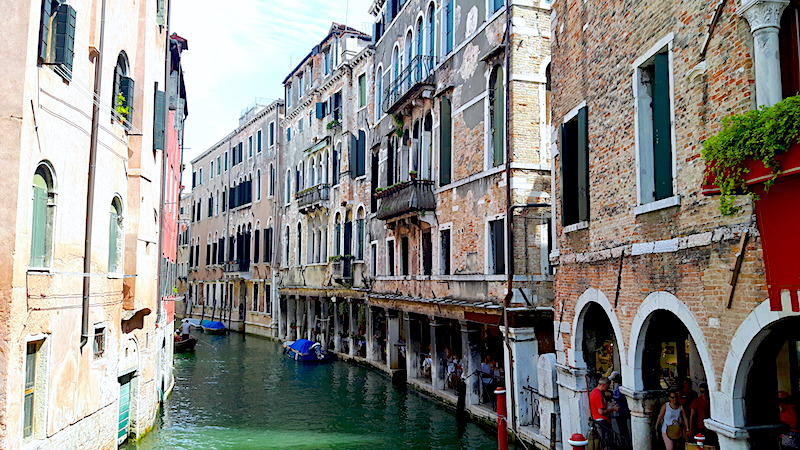 Exploring Venice canals during 3 days in Venice, Italy.